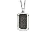 Chisel Stainless Steel Brushed And Polished Black Ip-plated Dogtag Necklace style: SRN195924