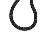 Chisel Stainless Steel Polished Black Ip-plated Double Curb Chain Necklace style: SRN196824