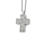 Chisel Stainless Steel Polished W/ Crystal Cross Necklace style: SRN197824