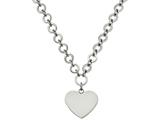 Chisel Stainless Steel Polished Large Heart W/1.75in Ext. Necklace style: SRN20021725