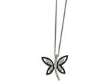 Chisel Stainless Steel Enameled W/ Preciosa Crystal Butterfly Necklace style: SRN201118