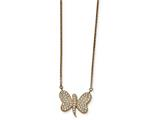 Chisel Stainless Steel Rose Ip-plated W/preciosa Crystal Dragonfly W/2 Inch Necklace style: SRN201616