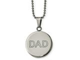 Chisel Stainless Steel Lasered and Polished Dad Circle Necklace style: SRN202320