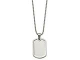 Chisel Stainless Steel Polished Dog Tag Necklace style: SRN202720