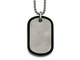 Chisel Stainless Steel Brushed Black Ip Edged Dogtag Necklace style: SRN203122