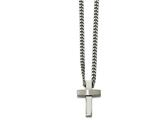 Chisel Stainless Steel Brushed And Polished Cross Necklace style: SRN205020