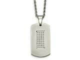 Chisel Stainless Steel Polished and CZs Dog Tag Necklace style: SRN206322