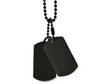 Chisel Stainless Steel Brushed And Laser Cut Black Ip Double Dogtag Necklace style: SRN210120