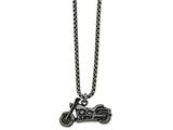 Chisel Stainless Steel Antiqued Motorcycle Necklace style: SRN2127255