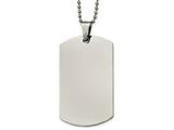 Chisel Stainless Steel Polished Rounded Edge Xlarge 2mm Thick Dog Tag Necklace style: SRN213824