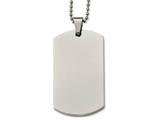 Chisel Stainless Steel Polished Rounded Edge Xlarge 4mm Thick Dog Tag Necklace style: SRN213924