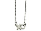 Chisel Stainless Steel Polished Xo Necklace style: SRN214718