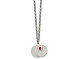 Chisel Stainless Steel 2 Piece Medical Pendant Necklace style: SRN215426