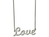 Chisel Stainless Steel Polished Love 16in Necklace style: SRN215516