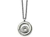 Chisel Stainless Steel Polished Cz Circle Necklace style: SRN2157215