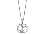 Chisel Stainless Steel Polished W/2in Ext. Necklace style: SRN215917