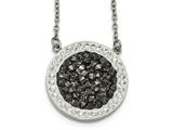 Chisel Stainless Steel Polished Crystal 2mm Necklace style: SRN216018