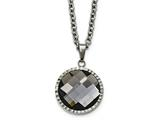 Chisel Stainless Steel Polished Charcoal Glass Necklace style: SRN2167295