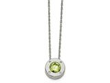 Chisel Stainless Steel Polished CZ May Birthstone Necklace style: SRN217320