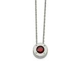 Chisel Stainless Steel Polished Cz January Birthstone Necklace style: SRN219120