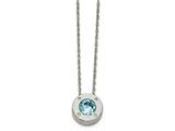 Chisel Stainless Steel Polished CZ December Birthstone Necklace style: SRN219620
