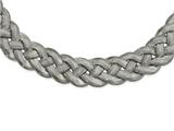 Chisel Stainless Steel Polished Braided With 3.5in Ext. Necklace style: SRN220016
