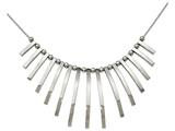 Chisel Stainless Steel Polished Bars And Beads W/2in Ext. Necklace style: SRN221219