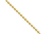 Chisel Stainless Steel Ip Gold-plated 3.0mm 18in Ball Chain style: SRN223GP18