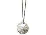 Chisel Stainless Steel Polished Hammered Necklace style: SRN225518