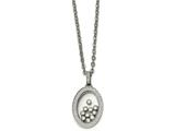 Chisel Stainless Steel W/ Floating CZ Glass Necklace style: SRN225918
