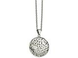 Chisel Stainless Steel Polished Puffed Cut-out Design Necklace style: SRN226018