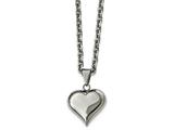 Chisel Stainless Steel Polished Heart Necklace style: SRN226120