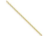 Chisel Stainless Steel Gold Ip Plated 2.3mm 24in Cable Chain style: SRN228GP24