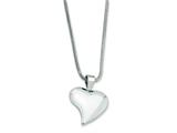 Chisel Stainless Steel Heart Pendant Necklace - 18 inches style: SRN244