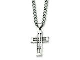 Chisel Stainless Steel Cross Pendant Necklace - 22 inches style: SRN311