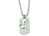 Chisel Stainless Stell Girl Dog Tag Pendant Necklace - 22 inches style: SRN321