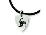 Chisel Stainless Steel Enameled Pendant Necklace - 18 inches style: SRN325