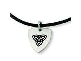 Chisel Stainless Steel Enameled Trinity Pendant Necklace - 18 inches style: SRN329