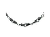 Chisel Stainlesss Steel Skull Necklace - 24 inches style: SRN350