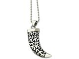 Chisel Stainless Steel Antiqued Fancy Claw Pendant Necklace style: SRN42124