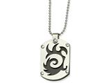 Chisel Stainless Steel Black Ip-plated Swirl Dog Tag Necklace style: SRN42624
