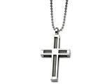 Chisel Stainless Steel Polished Cross Pendant  24in Necklace style: SRN47024