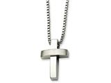 Chisel Stainless Steel Cross Pendant 22in Necklace style: SRN50422