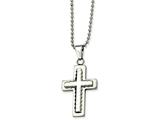Chisel Stainless Steel Cross Pendant 24in Necklace style: SRN50624