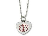 <b>Engravable</b> Chisel Stainless Steel Heart Shaped Medical Pendant 22in Necklace style: SRN52122