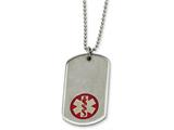 Chisel Stainless Steel Large Dog Tag Medical Pendant 22in Necklace style: SRN52222