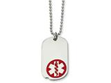 Chisel Stainless Steel Small Dog Tag Medical Pendant 23.5in Necklace style: SRN52322