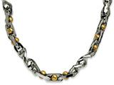 Chisel Stainless Steel Yellow Ip-plated 20in Necklace style: SRN54220