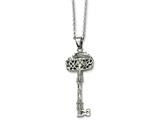 Chisel Stainless Steel Fancy Key Pendant Necklace style: SRN61622