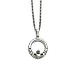 Chisel Stainless Steel Claddagh Pendant Necklace style: SRN63522